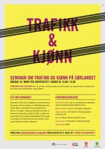 Plakat for Trafikk og Kjønn