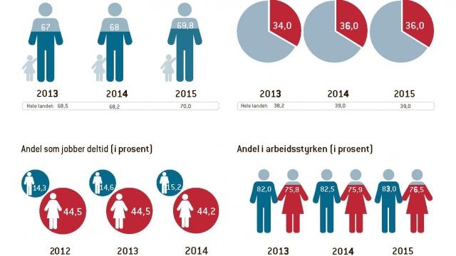 Indikatorer for kjønnslikstilling 2015