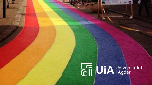 UiA markerer mangfoldet med gangfelt i regnbuens farger